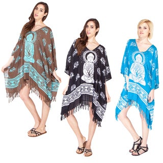 Meditating Buddha Poncho Dress (Indonesia)