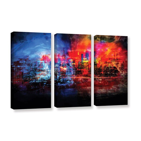 ArtWall Niel Hemsley's A Tale Of Two Cities 3-piece Gallery Wrapped Canvas Set