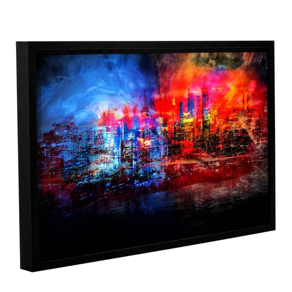 ArtWall Niel Hemsley's A Tale Of Two Cities Gallery Wrapped Floater-framed Canvas