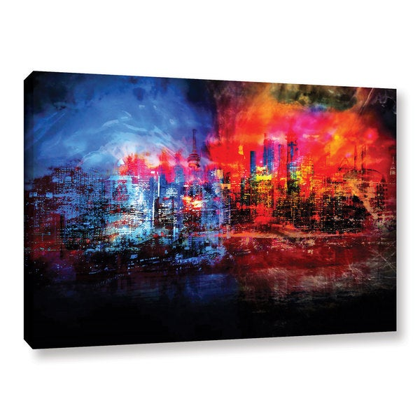 ArtWall Niel Hemsley's A Tale Of Two Cities Gallery Wrapped Canvas