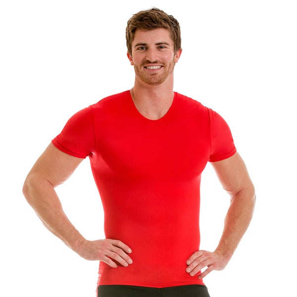 Insta Slim Men's Pro Active Wear Compression Crew-neck T-shirt 17728906
