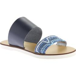 Women's Charles David Gia Sandal Blue Leather/Woven Smooth