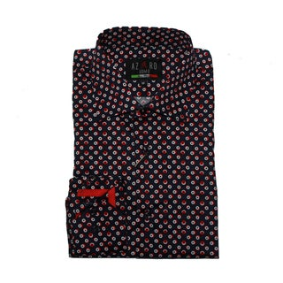 Azaro Uomo Men's Ringo Navy Button Down