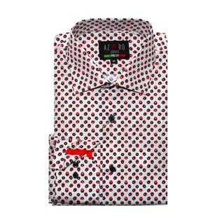 Azaro Uomo Men's Ringo Red Button Down