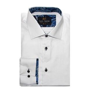 Suslo Couture Men's Stredo White Button Down