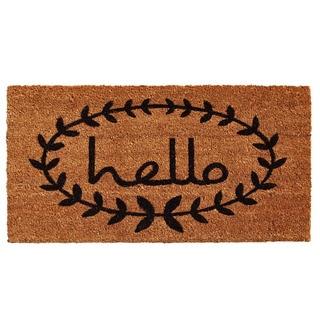 Calico Hello Doormat (3' x 6')