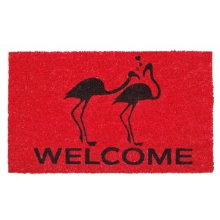 Flamingo Welcome Doormat (1'5 x 2'5)