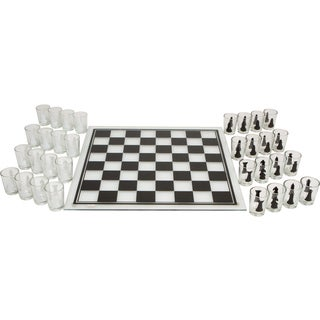 Shot Chess Set and Game Board and Glasses Included by EZ Drinker