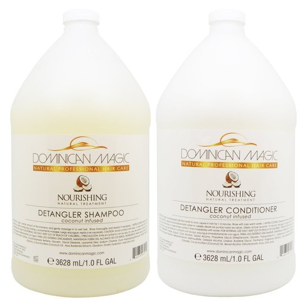 Dominican Magic Coconut Detangler 1-gallon Shampoo & Conditioner Set