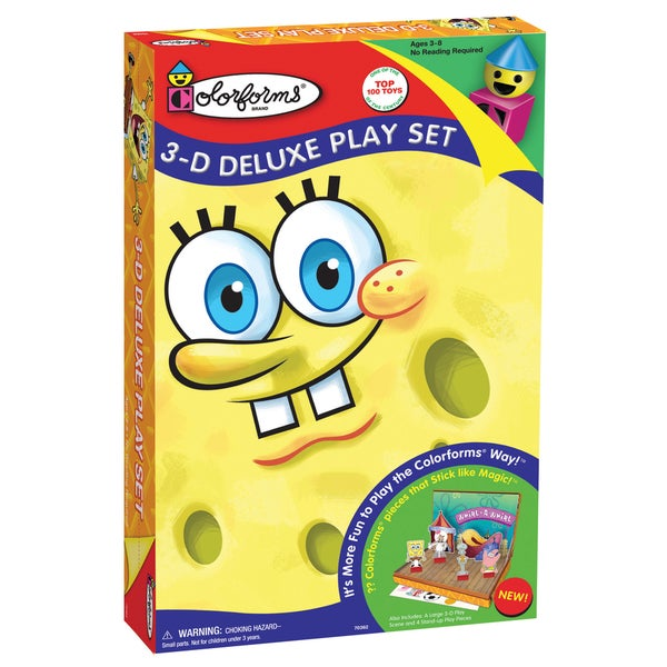 SpongeBob SquarePants Colorforms 3D Deluxe Play Set