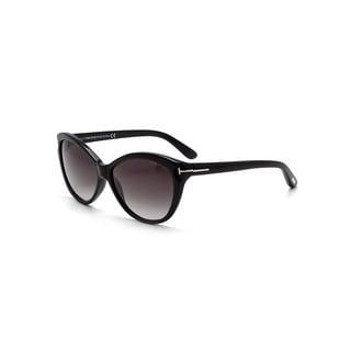 Tom Ford Women's TF0325 Telma Cat-Eye Rectangular Sunglasses
