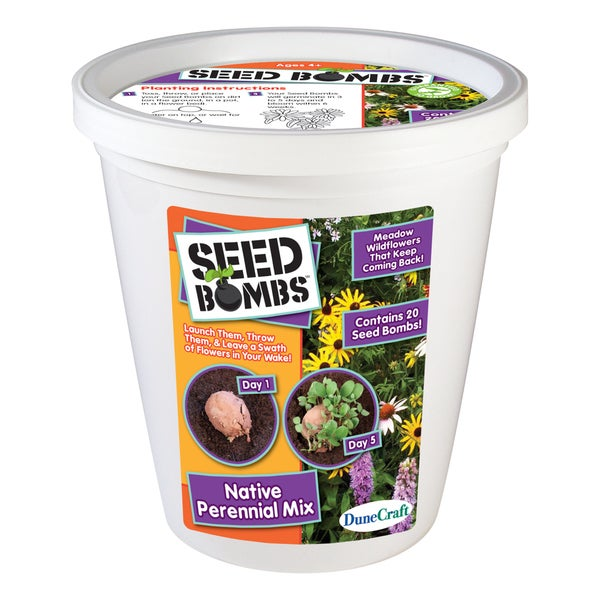 Seed Bomb Bucket Native Perennial Mix