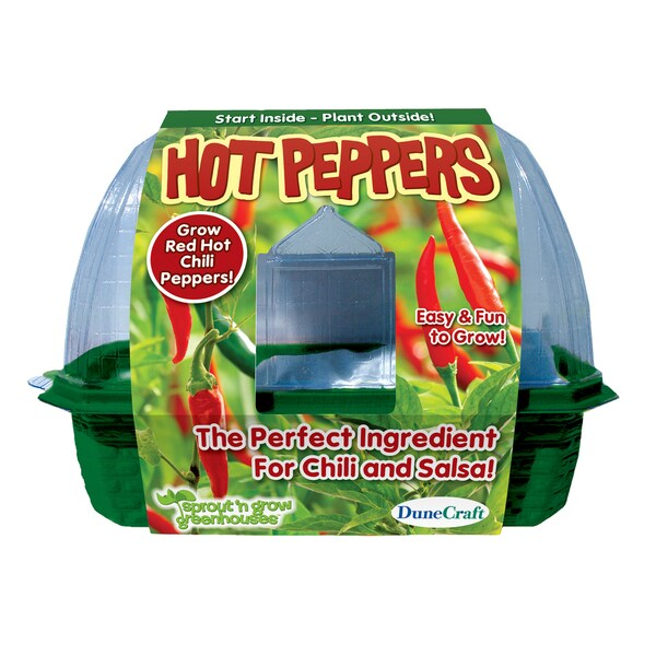 Sprout 'n Grow Greenhouse Hot Peppers