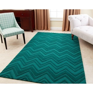 Abbyson Living Hand-tufted Stacy Emerald Green New Zealand Wool Rug (8' x 10')