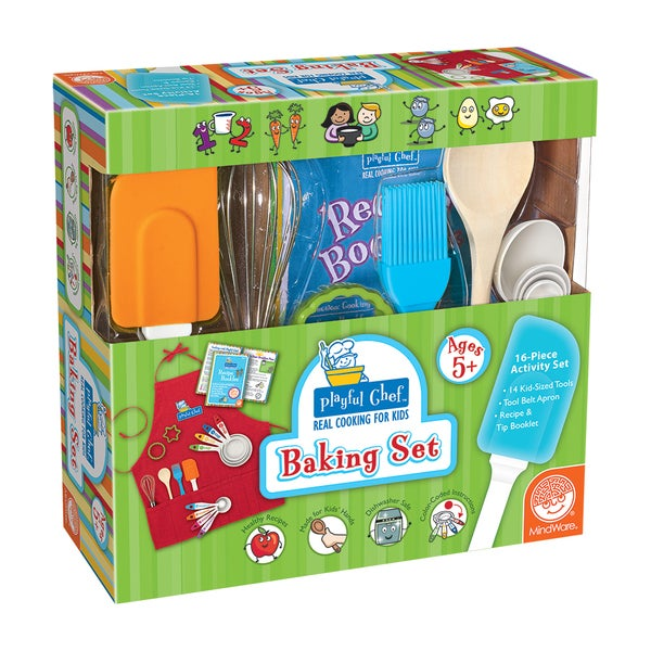 Playful Chef Baking Set Red Apron