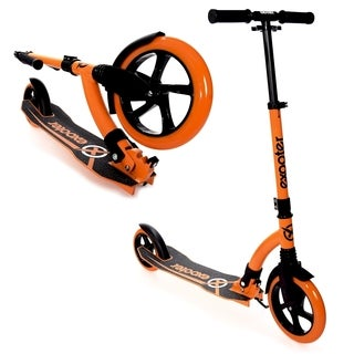 EXOOTER M1550BO Vibrant Orange 6XL Adult Kick Scooter with Front Shocks and 180mm/ 240mm Wheels