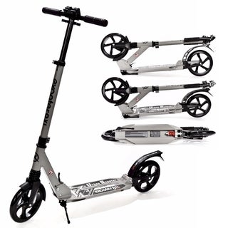 EXOOTER M1350CH Charcoal 8XL Adult Cruiser Kick Scooter with Suspension Shocks