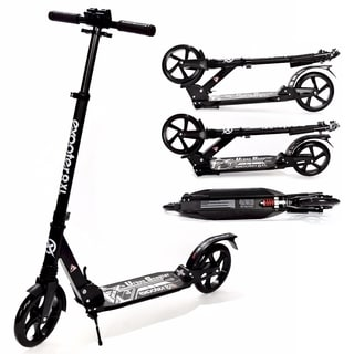 EXOOTER M1350BK Black 8XL Adult Cruiser Kick Scooter with Suspension Shocks