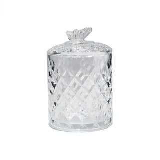 Fifth Avenue Small Crystal Butterfly Jar with Lid