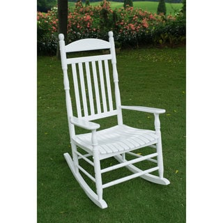 Alston Traditional White Rocking Chair