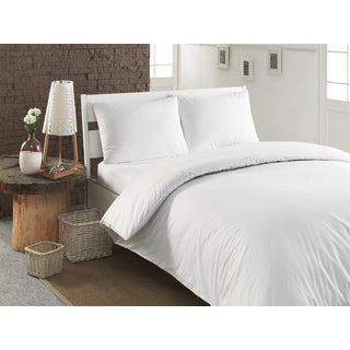 Pamuk Luxury Solid 300 Thread Count Turkish Cotton Duvet Cover