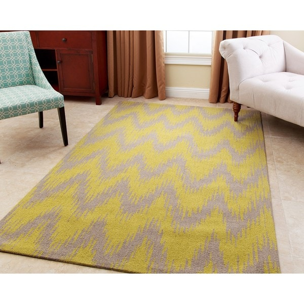 ABBYSON LIVING Hand-tufted Emily Grey New Zealand Wool Rug (5' x 8')