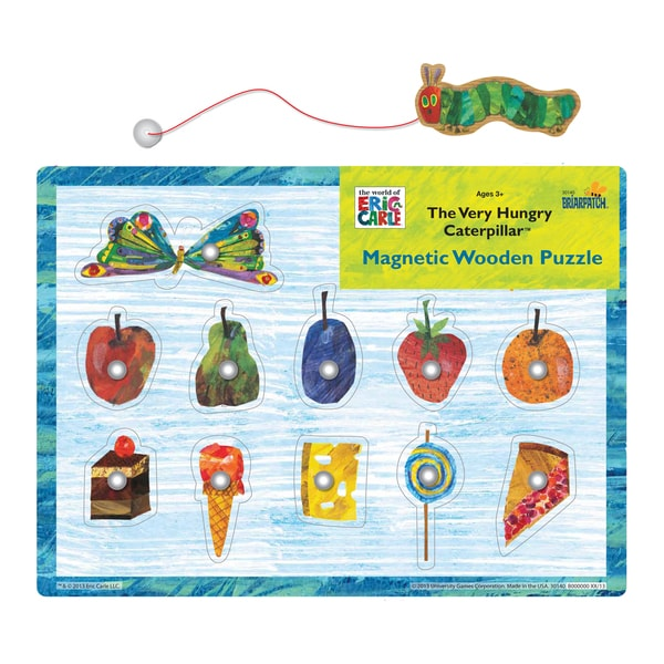 The Very Hungry Caterpillar Magnetic Wooden Puzzle: 11 Pcs
