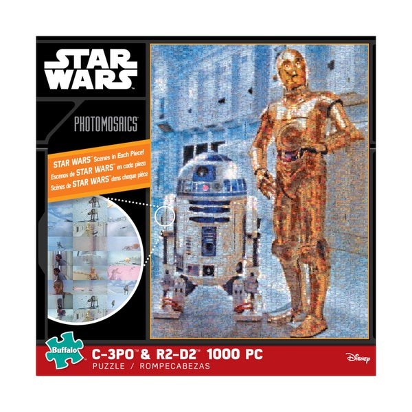 Star Wars Photomosaics C-3PO and R2-D2: 1000 Pcs