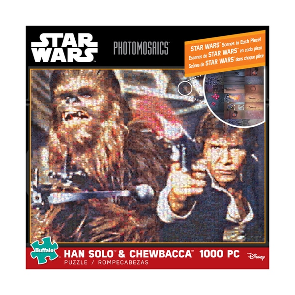 Star Wars Photomosaics Han Solo and Chewbacca: 1000 Pcs