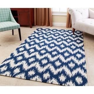 Abbyson Living Hand-tufted Ellie Royal Blue New Zealand Wool Rug (8' x 10')