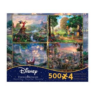 Thomas Kinkade Disney Dreams 4-in-1 Jigsaw Puzzle Multi-Pack Series 2: 4 x 500 Pcs