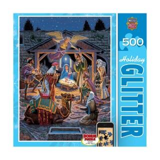 Holiday Glitter Puzzle Holy Night: 500 Pcs