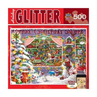 Holiday Glitter Puzzle Christmas Shop: 500 Pcs