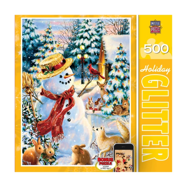Holiday Glitter Puzzle Holiday Party: 500 Pcs
