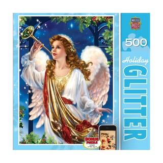Holiday Glitter Puzzle Hark the Herald: 500 Pcs