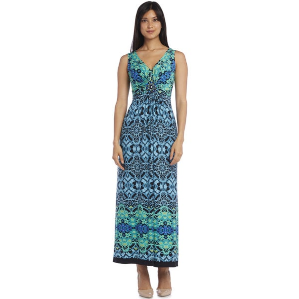 R&M Richards Print Maxi Dress