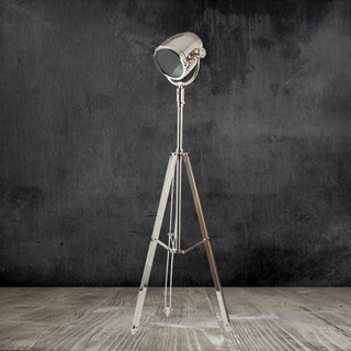 Urban Designs Nickel Floor Tripod Lamp