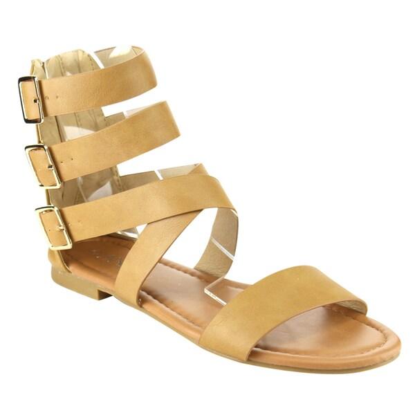 Anna Adriana-48 Strappy Gladiator Sandal