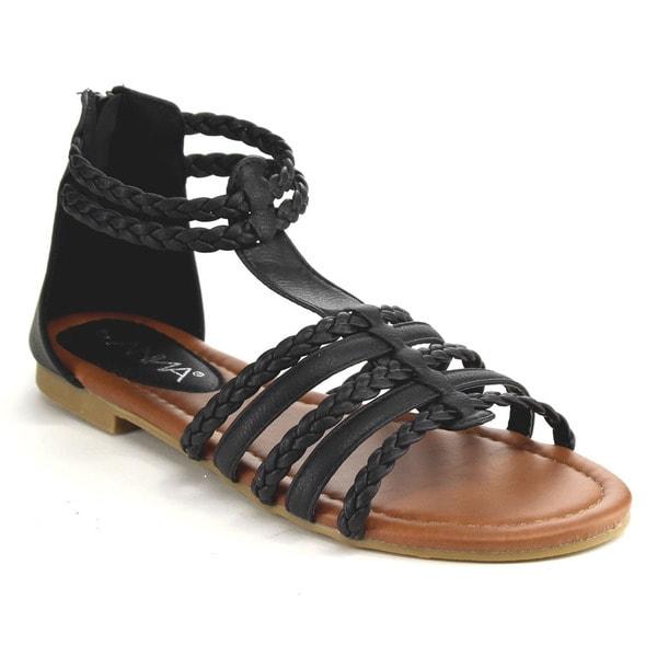 Anna Sofia Gladiator Flat Sandals