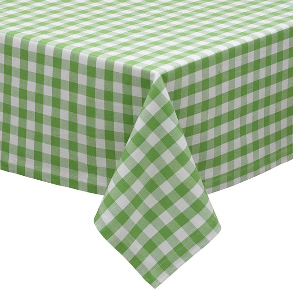 Green Apple Check Tablecloth