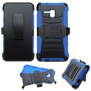 Insten Hard PC/ Silicone Dual Layer Hybrid Case Cover with Holster for Alcatel One Touch Fierce XL