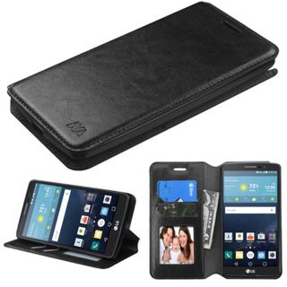 Insten Leather Case Cover with Stand/Wallet Flap Pouch/Photo Display for LG G Stylo/ G Vista 2