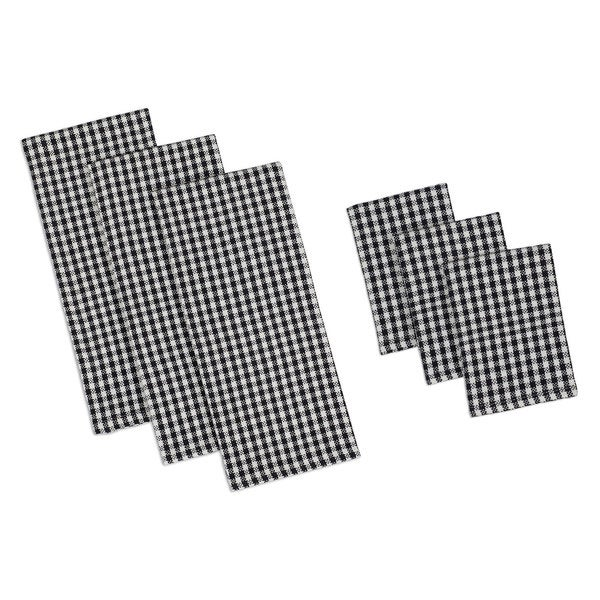 Black Check Heavyweight Dishtowel Set