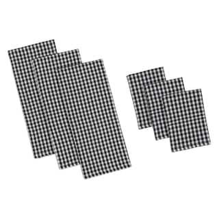 Black Check Heavyweight Dishtowel Set