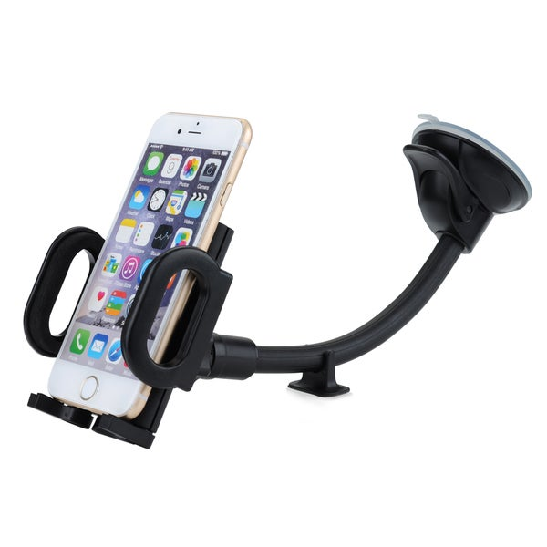 Mpow Grip Flex Windshield 8.66 inches Long Arm Car Holder with Extra Dashboard Base and Dual Strong Suction 17738873