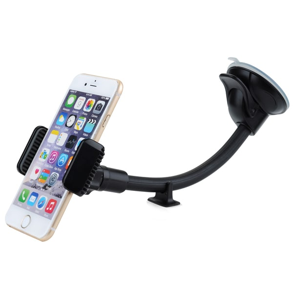 Mpow Grip Flex Universal Windshield 8.66 inches Long Arm Car Holder with Extra Dashboard Base and Dual Strong Suction 17738888