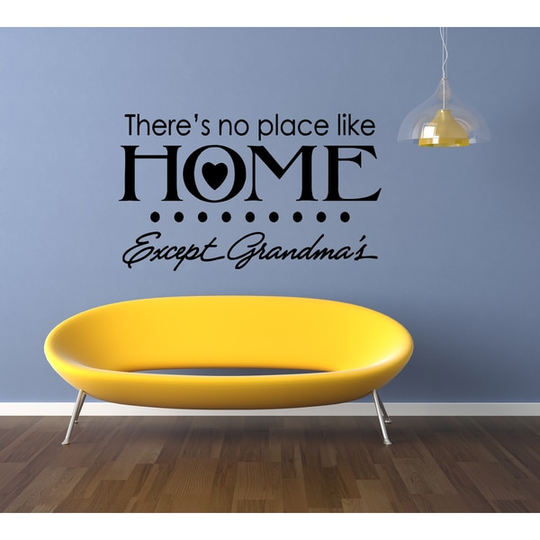 No Place Like Home quote Wall Art Sticker Decal