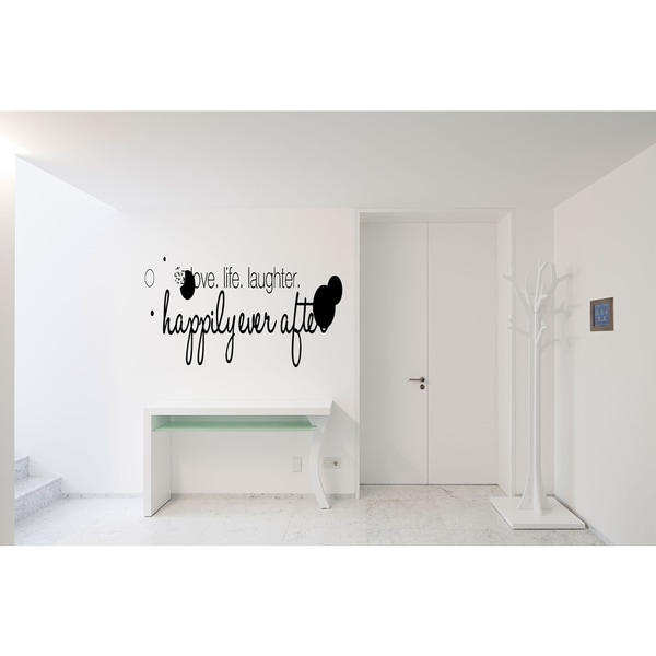 Love, Laughter, Happily Wall Art Sticker Decal