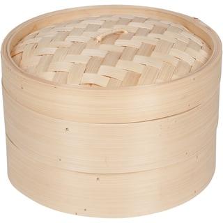 Bamboo Steamer 3 Piece 10-inch Diameter by Trademark Innovations