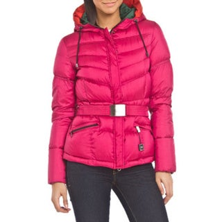 Add Bright Pink Down Puffer Coat (Size 4)